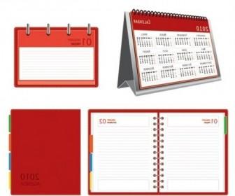 Vector Calendar Notepad Vector Art