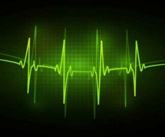 Vector ECG Abstract Background Vector Art