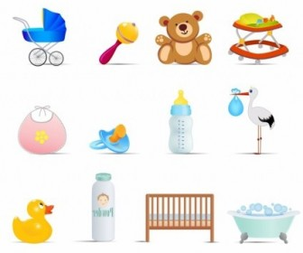 Vector Baby Icons Icon Vector Graphics