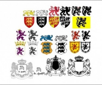 Vector Heraldic Lion Pack Vector Art