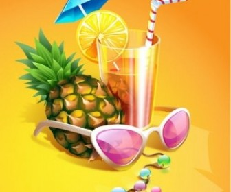 Vector Zest Summer Drink Vector Art