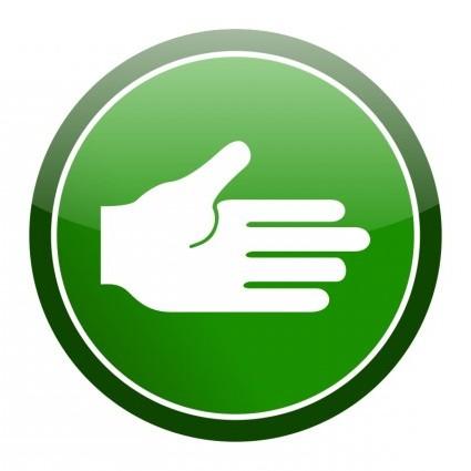 vector green cirlce hand icon vector clip art ai svg