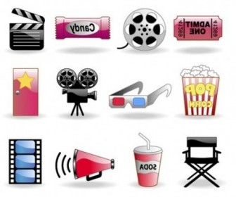 Vector Movie Themes And Elements Icon Vector Graphics