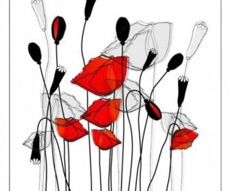 Vector Fashion Flowers 2 Flower Vector Art