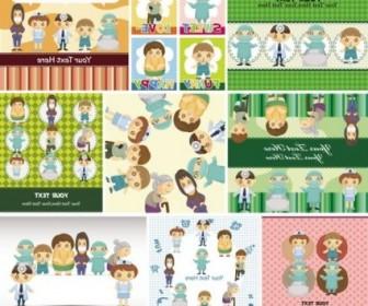 Vector Cute Children39s Illustrator 04 Cartoon Vector Art