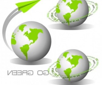 Vector Green Earth Icon Vector Graphics