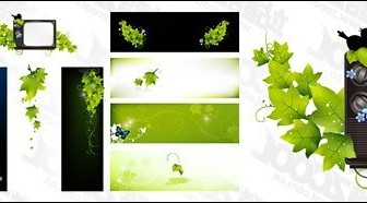 Vector Green Butterfly TV Material Tree Plant Vector Graphics
