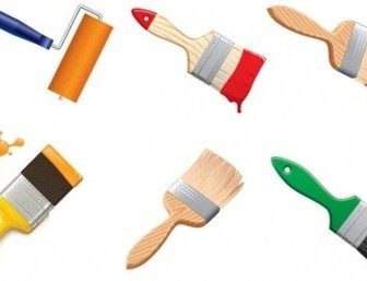 Vector Paint Brushes Graphic Vector Art