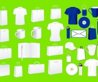 Vector Blank Vi Design Commonly Used Items Vector Art