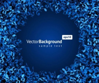 Vector Music Keys Blue 03 Background Vector Art