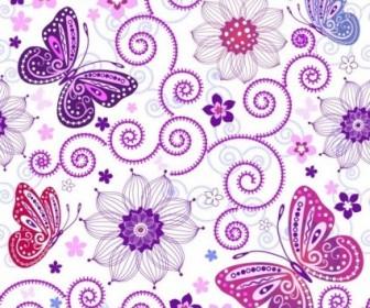 Vector Butterfly Pattern 01 Background Vector Art