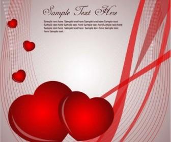 Vector Valentines Card Graphic Heart Vector Art