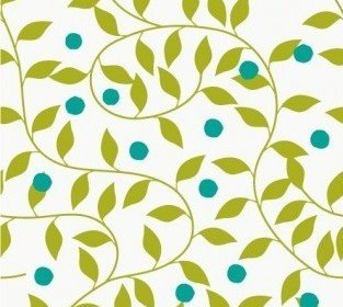 Vector Seamless Green Pattern Background Floral Vector Art