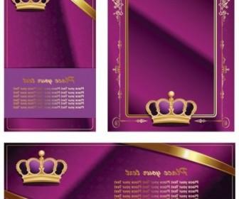 Vector Crown Lace Ribbon Card Vector Art