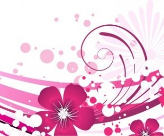 Vector Pink With Abstract Background Graphic Flower Vector Art