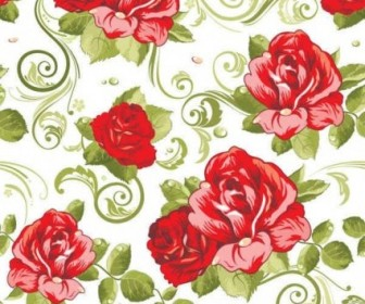 Vector Floral Seamless Pattern Background Vector Art