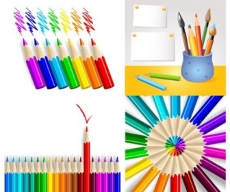 Vector Colored Pencil Series Vector Art