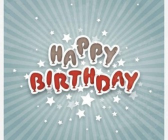 Vector Happy Birthday Graphic Background Vector Art