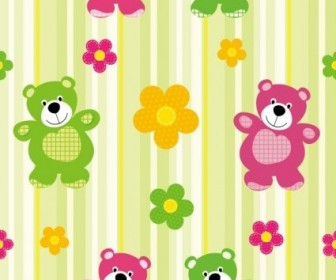 Vector Cute Cartoon 03 Background Vector Art