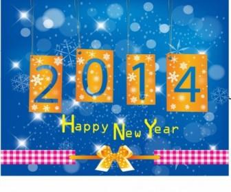 Vector Happy New Year 2014 Vector Art
