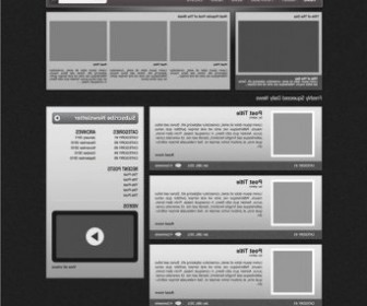 Vector Template Web Design Vector Graphics