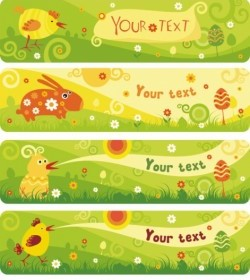 Vector Cute Cartoon Banner02vector Vector Banner