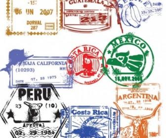 Vector Passport Stamp Seal 02 Vector Art