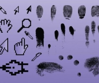 Vector Fingerprint Pointer Graphics Vector Art