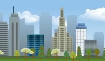 Vector City Skyline Vector Clip Art