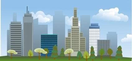 Vector City Skyline Vector Clip Art Ai Svg Eps Vector Free Download