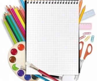 Vector Painting Supplies And Stationery Vector Art