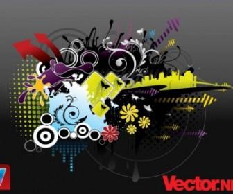 Vector Urban Design Vector Art