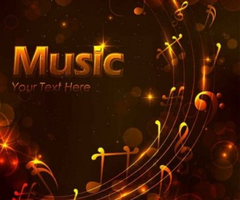 Vector Golden Music Design Background Vector Art