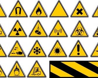 Vector Road Traffic Signs Vector Clip Art