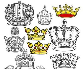 Vector Beautiful Crown 2 Vector Art