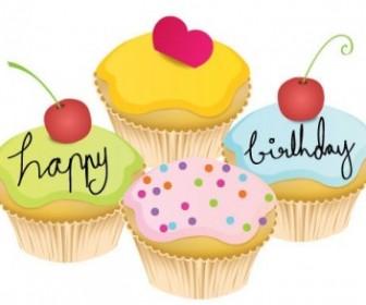 Vector May Cupcake Vector Art