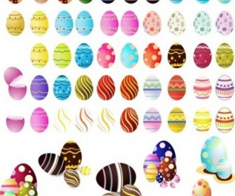 Vector Easter Eggs Set Vector Art