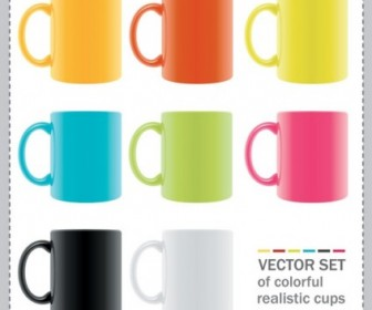 Vector Colorful Mug Vector Art