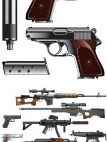 Vector Love The Gun Vector Art