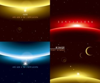 Vector Of Three Brilliant Dynamic Effects Background Vector Art