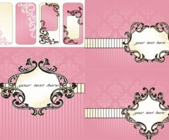 Vector Pink Pattern Background Vector Art