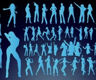 Vector Dancing Girls People Vector Art