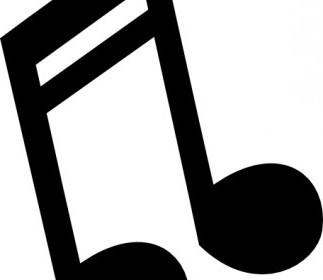 Vector Musical Note 3 Vector Clip Art
