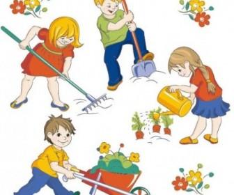 Vector Children 05 Cartoon Vector Art