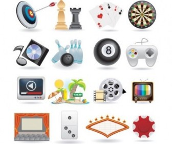 Vector Lovely Life Entertainment Icons Icon Vector Graphics