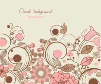 Vector Elegant Floral Pattern 05 Background Vector Art
