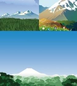 Vector Mountain Scenery Vector Art