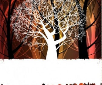 Vector Tree Silhouette 02 Background Vector Art