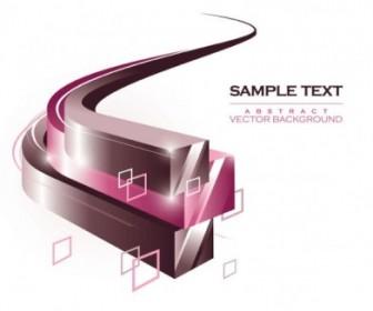 Vector Dynamic Threedimensional Box Flow Line 01 Background Vector Art