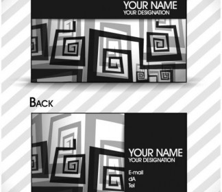 Vector Brilliant Dynamic Card 05 Pattern Vector Art